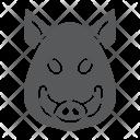 Boar Pig Face Icon