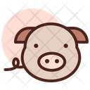 Pig Meat Food Icon