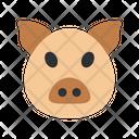 Pig Face Pig Piggy Icon