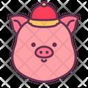 Pig Head Newyear Icon