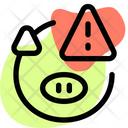 Pig Warning Pig Alert Animal Alert Icon