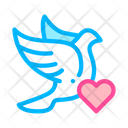 Pigeon Heart Wedding Icon