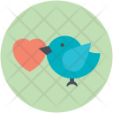 Pigeon Bird Couple Icon