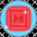 Gemstone Diamond Pigeon Blood Ruby Icon