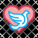 Pigeon Center Heart Icon