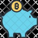 Bitcoin Piggy Save Icon