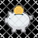 Piggy Bank Bitcoin Icon