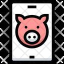 Piggy Smartphone Savings Icon