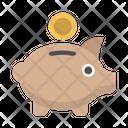 Bank Money Piggy Icon