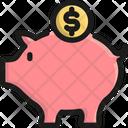 Savings Piggy Bank Money Icon