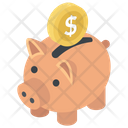 Savings Penny Bank Emergency Funds Icon