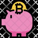 Piggy Bank Bitcoin Piggy Saving Icon