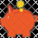 Piggy Bank Saving Money Icon