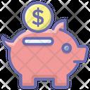 Piggy Bank Money Savings Money Box Icon