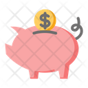 Piggy Bank Savings Investment Icon