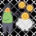 Piggy Bank Money Savings Piggy Money Box Icon