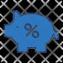 Piggy Bank Saving Icon