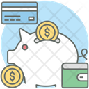 Piggy Bank Piggy Pastel Piggy Savings Icon