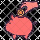 Saving Money Piggy Icon