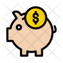 Piggy Bank Dollar Icon