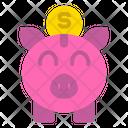 Piggy Bank Coin Icon