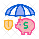 Money Box Protection Icon
