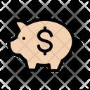 Piggy Bank Saving Dollar Icon