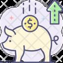 Piggy Bank Savings Savings Increase Icon