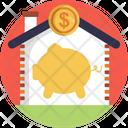 Piggy Bank Save Home Icon