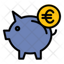 Piggy Bank Euro Save Pig Icon