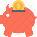 Piggy Bank Deposit Icon