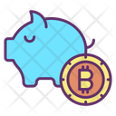 Piggy Bank Bitcoin Icon