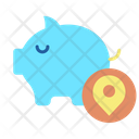 Piggy Bank Location Icon