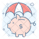 Piggy Bank Security Piggy Bank Protection Cyber Security Icon