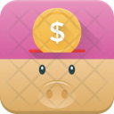 Piggy Bank Saving Icon