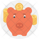Saving Piggy Bank Icon