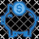 Piggy Bank Savings Cash Icon
