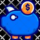 Banking Savings Coins Icon