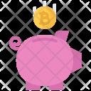 Piggy Banking Money Icon