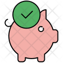 Confirm Piggy Banking Icon