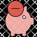 Delete Piggybank Piggy Icon