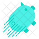 Fast Piggy Bank Icon