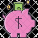 Piggy Banking Box Icon