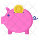 Financial Investment Piggy Bank Save Money Icon