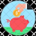 Financial Savings Piggy Bank Piggy Savings Icon