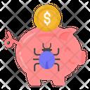Piggy Savings Bug Piggy Savings Virus Melicious Savings Icon