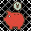 Piggybank Yen Finance Icon