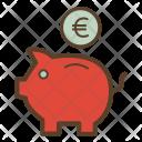Piggybank Euro Conversion Icon