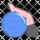 Pilates Ball Exercise Aerobic Icon