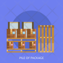 Pile Package Delivery Icon